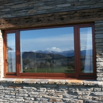 1-1-2 Fixed Window outside stone cladding