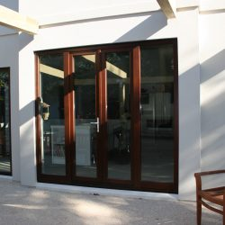 1-2-4 French doors lockable, 2 sidelights outside