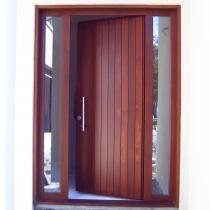 1-2-4 Front Entrance outside 2-sidelights plaster